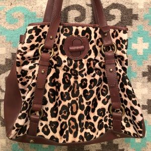 Vintage J Crew Collection Calf hair leopard bag